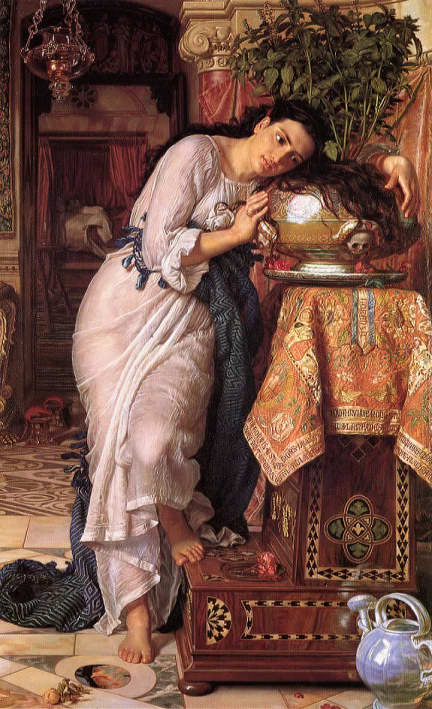 Isabella and the Pot of Basil by William Holman Hunt.